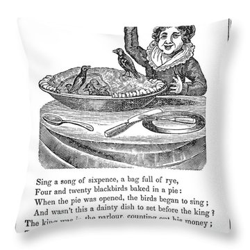 Sing A Song Of Sixpence Throw Pillow by Granger