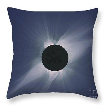 Solar Eclipse Throw Pillow by Nasa