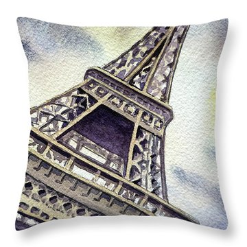 The Eiffel Tower  Throw Pillow by Irina Sztukowski