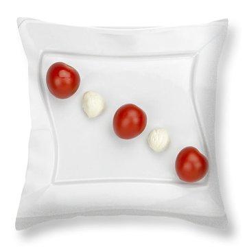 Tomato Mozzarella Throw Pillow by Joana Kruse