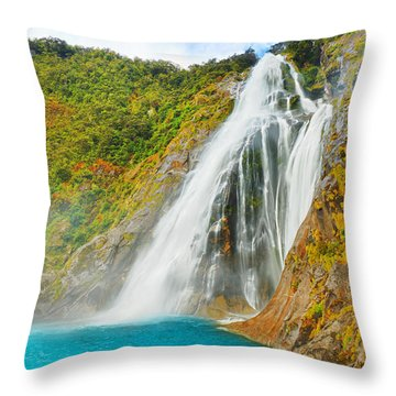 Waterfall Throw Pillow by MotHaiBaPhoto Prints