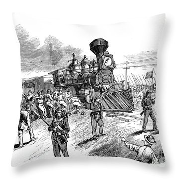 Great Railroad Strike, 1877 Throw Pillow by Granger