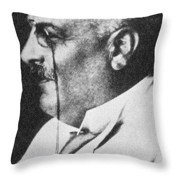 Alois Alzheimer, German Neuropathologist Throw Pillow by Science Source
