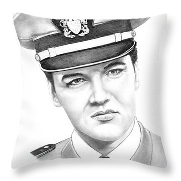 Elvis Presley Throw Pillow by Murphy Elliott
