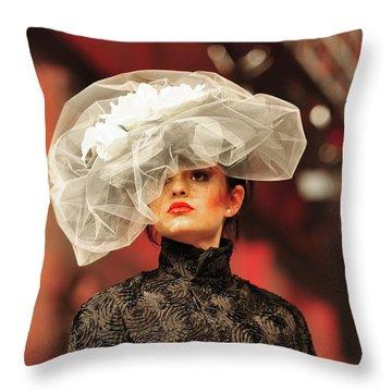 Fat Fashion Art Toronto Throw Pillow by Andrea Kollo