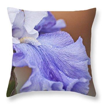 Iris Throw Pillow by Christopher Gaston