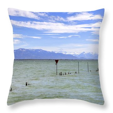 Lake Constance Throw Pillow by Joana Kruse