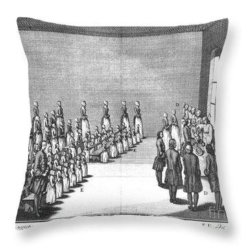 Moravians, 1757 Throw Pillow by Granger