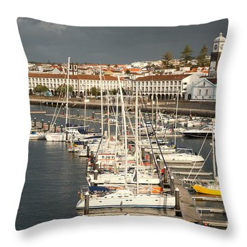 Ponta Delgada Throw Pillow by Gaspar Avila