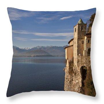 Santa Catarina Del Sasso Throw Pillow by Joana Kruse