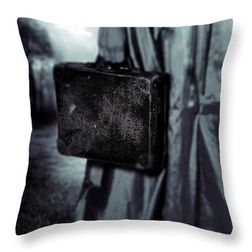 Suitcase Throw Pillow by Joana Kruse