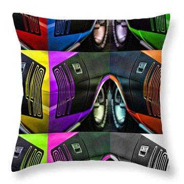 440 Cuda Billboard Pop Throw Pillow by Gordon Dean II