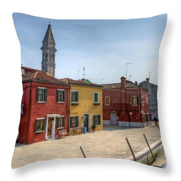Burano - Venice - Italy Throw Pillow by Joana Kruse