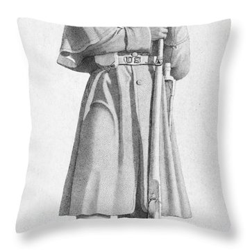 Civil War: Soldier Throw Pillow by Granger
