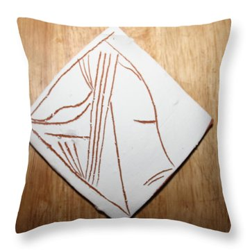 Dreams - Tile Throw Pillow by Gloria Ssali