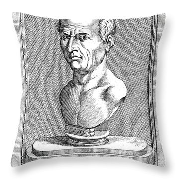 Marcus Tullius Cicero Throw Pillow by Granger