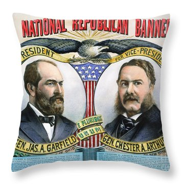 Presidential Campaign, 1880 Throw Pillow by Granger