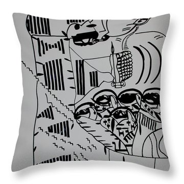 The Wise Virgins Throw Pillow by Gloria Ssali