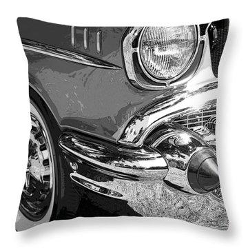 57 Chevy  Throw Pillow by Steve McKinzie