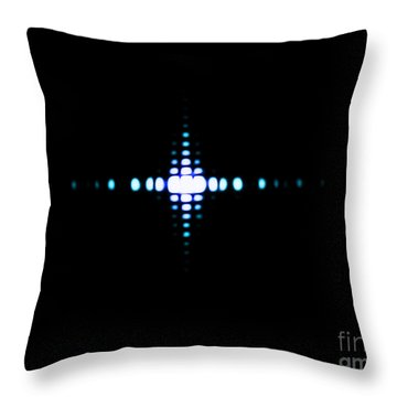 Fraunhofer Diffraction Throw Pillow by Omikron