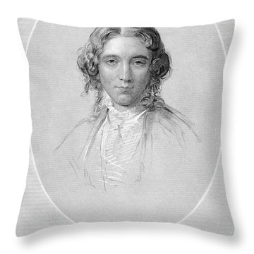 Harriet Beecher Stowe Throw Pillow by Granger