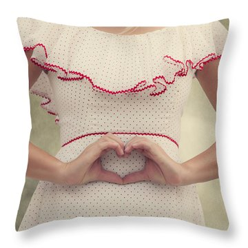 Heart Throw Pillow by Joana Kruse