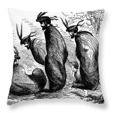 Scottish Games, 1867 Throw Pillow by Granger