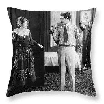 Silent Still: Exercise Throw Pillow by Granger