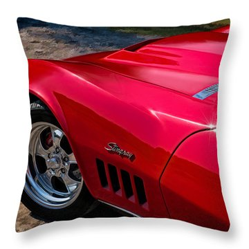 69 Red Detail Throw Pillow by Douglas Pittman