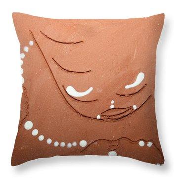 Mama - Tile Throw Pillow by Gloria Ssali