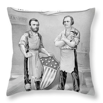 Presidential Campaign, 1872 Throw Pillow by Granger