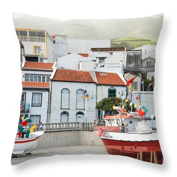 Vila Franca Do Campo Throw Pillow by Gaspar Avila
