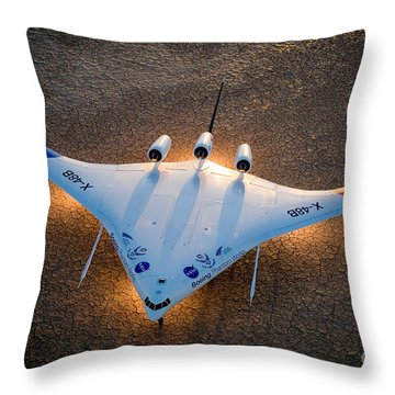 X48b Blended Wing Body Throw Pillow by Nasa