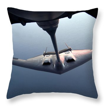 A B-2 Spirit Bomber Conducts Throw Pillow by Stocktrek Images