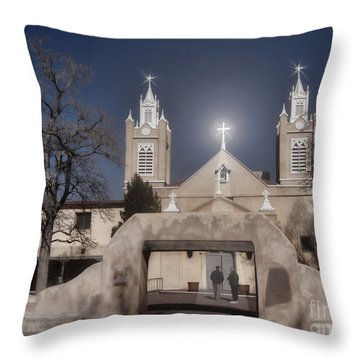 A Blessed Couple Throw Pillow by Donna Greene
