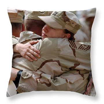 A Chief Master Sergeant Consoles Throw Pillow by Stocktrek Images