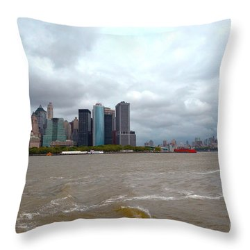 A Cloudy Day Throw Pillow by Pravine Chester