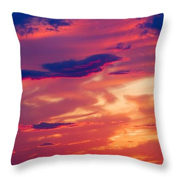 A Colorful Sky Throw Pillow by Carson Ganci