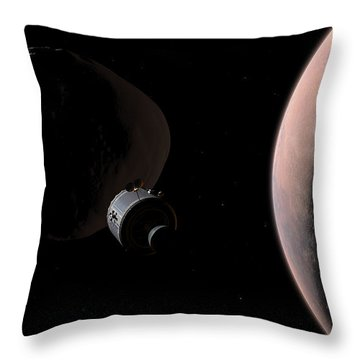 A Command Module Begins A Close Throw Pillow by Walter Myers