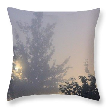 A Gothic Night's Stroll Throw Pillow by Maria Urso