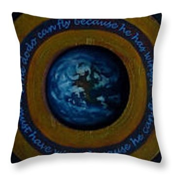 A Leap Of Face Throw Pillow by Patrick Anthony Pierson