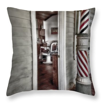 A Look Into The Past Throw Pillow by Susan Candelario
