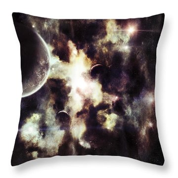A Parallel Universe So Thin Youre Able Throw Pillow by Tomasz Dabrowski