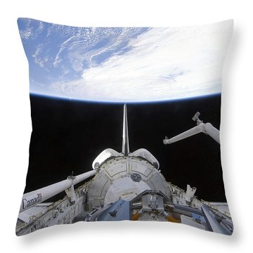 A Partial View Of The Tranquility Node Throw Pillow by Stocktrek Images