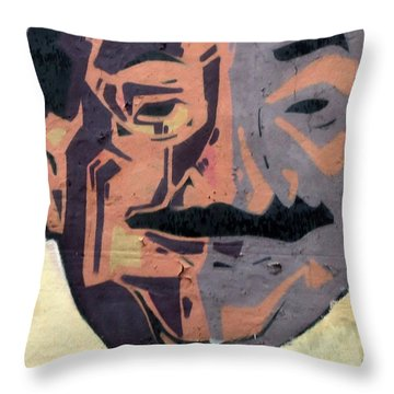 A Peeling Personality Throw Pillow by Randall Weidner
