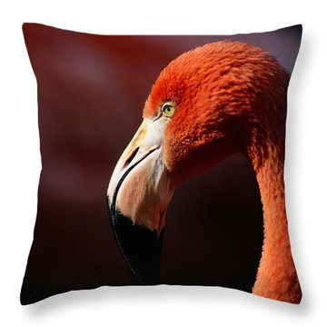 A Portrait Of A Captive Greater Throw Pillow by Tim Laman