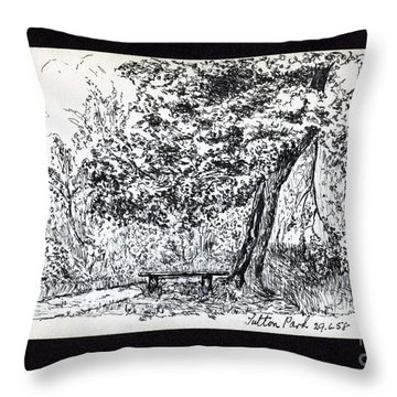 A Quiet Corner 1958 Throw Pillow by John Chatterley