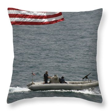 A Rigid Hull Inflatable Boat Throw Pillow by Stocktrek Images