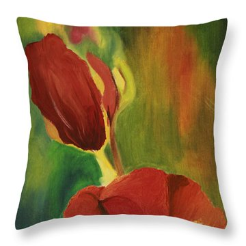 A Small Moment Throw Pillow by Jane Autry