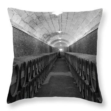A Spanish Cellar Throw Pillow by John Stuart Webbstock